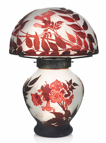 Muller Frere Cameo Glass Table Lamp